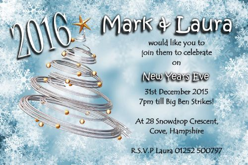 10 Personalised New Years Eve Party Invitations No7